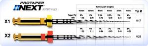 根管拡大形成用ファイル(ニッケルチタンファイル)プロテーパーネクスト